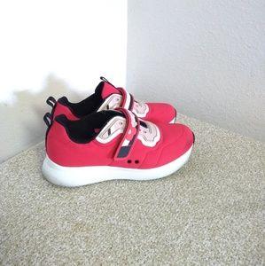 Prada Velcro Strap Floral Sneakers